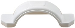 "Fulton Single Axle Trailer Fender with Top and Side Steps - White Plastic - 13"" Wheels - Qty 1"