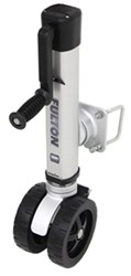 "Fulton F2 Swing-Up Trailer Jack, Dual 7"" Wheels, Sidewind, Bolt-On - 1,600 lbs"