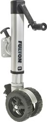 "Fulton Swing-Up Trailer Jack, Dual 7"" Wheels, Sidewind, Bolt-On - 1,600 lbs - Bulk"