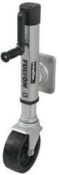 "Fulton F2 Swing-Up Trailer Jack for 4 x 5 Frames - Wide Track 8"" Wheels - Weld On - 1,600 lbs"