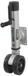 "Fulton F2 Swing-Up Trailer Jack for 3 x 4 Frames - Dual 7"" Wheels - Bolt On - 1,600 lbs"