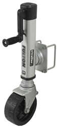 "Fulton F2 Swing-Up Trailer Jack for 4 - 5 Frames - 8"" Wide-Track Wheel - Bolt On - 1,600 lbs"