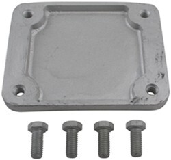 "Weld-On Mounting Bracket and Hardware for Fulton Swing-Up Trailer Jacks with 3"" x 4"" Mount"