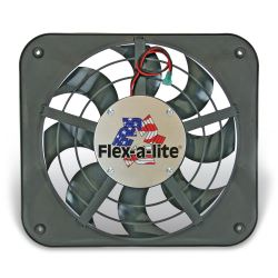 "Flex-a-lite 12-1/8"" Lo-Profile S-Blade Electric Radiator Fan - Puller - 1,250 CFM"