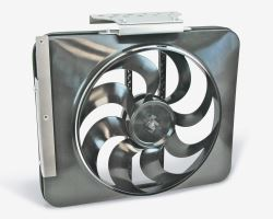 Flex-a-lite Direct Fit Black Magic Xtreme Electric Radiator Fan with Shroud - Adjustable Thermostat