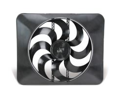 "Flex-a-lite 15"" Black Magic Xtreme S-blade Electric Radiator Fan with Shroud - Reversible"