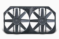 "Flex-a-lite Dual 15"" Electric Radiator Fans with Shroud Assembly - Variable Speed Controller"