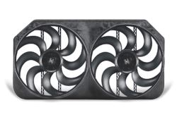 "Flex-a-lite Dual 15"" S-Blade Electric Radiator Fans with Shroud Assembly - 6,000 CFM"