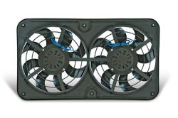 "Flex-a-lite Dual 12-1/8"" Xtreme S-Blade Electric Fan with Shroud - Reversible - 3,000 CFM"