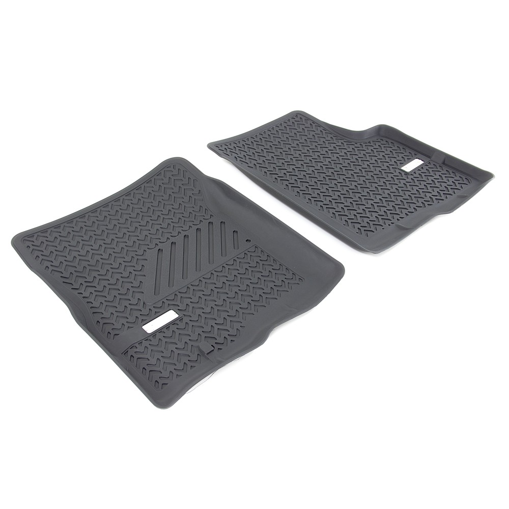 Bully custom truck floor liners front black qty 2 for Mechanic floor mats