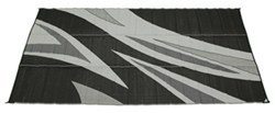 Faulkner RV Mat - Summer Waves - Black and White - 8' x 16'