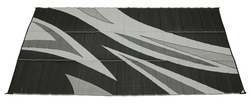Faulkner Rv Mat Summer Waves Black And White 8 X 20 Patio Accessories Fr46341