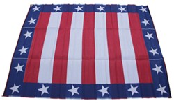 Faulkner RV Mat - Independence Day - Red, White, and Blue - 9' x 12'