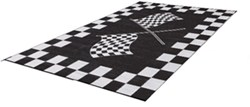 Faulkner RV Mat - Finish Line - Black and White - 6' x 9'