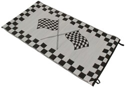 Faulkner RV Mat - Finish Line - Black and White - 8' x 20'