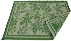 Faulkner RV Mat - Island Time - Yellow and Green - 9' x 12'