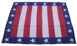 Faulkner RV Mat - Independence Day - Red, White, and Blue - 8' x 16'