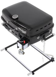 Faulkner BBQ Grill - RV Mount or Freestanding - Propane - Black Powder Coated Steel