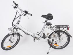"Faulkner Folding Electric Bike - 6 Speed - Aluminum Frame - 20"" Wheels"