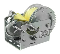 Fulton 2-Speed Trailer Winch with Heavy Duty 20' Strap - 3,200 lbs