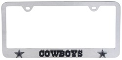 Dallas Cowboys NFL 3-D License Plate Frame - Chrome-Plated Steel
