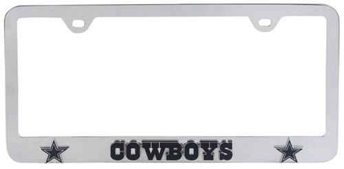 2 DALLAS COWBOYS Matte Black License Plate Frames car football accessories
