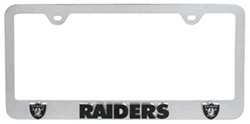 Oakland Raiders NFL 3-D License Plate Frame - Chrome-Plated Steel