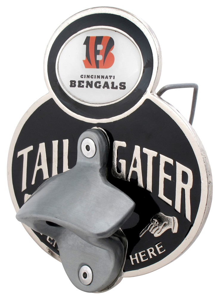 cincinnati bengals nfl tailgater hitch cover with bottle opener 2 hit. Black Bedroom Furniture Sets. Home Design Ideas