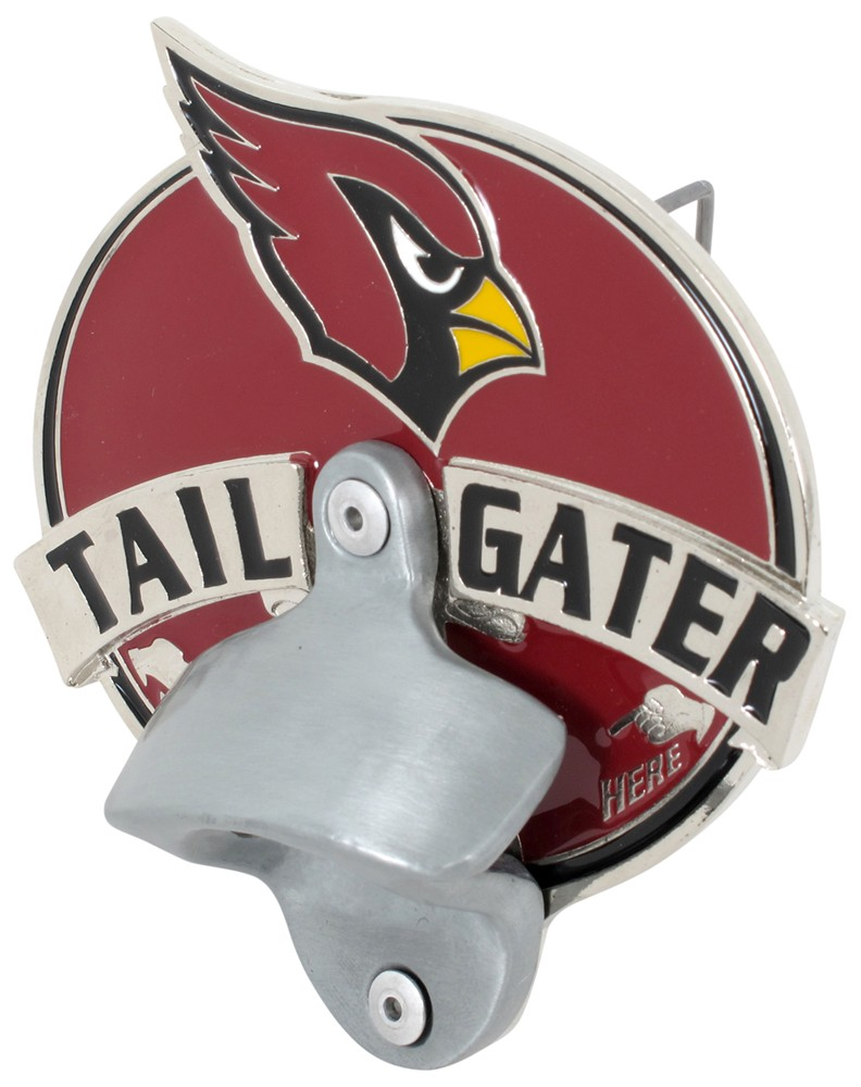 arizona cardinals nfl tailgater hitch cover with bottle opener 2 hitches alfred hitch cover. Black Bedroom Furniture Sets. Home Design Ideas