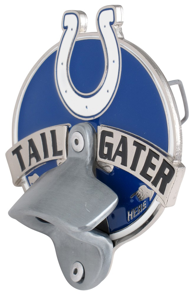 indianapolis colts nfl tailgater hitch cover with bottle opener 2 hitches alfred hitch cover. Black Bedroom Furniture Sets. Home Design Ideas