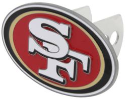 "San Francisco 49ers 2"" NFL Trailer Hitch Receiver Cover - Oval"