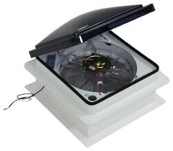 "Fan-Tastic Vent Roof Vent w/ 12V Fan - Manual Lift - 14-1/4"" x 14-1/4"""