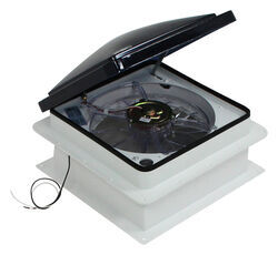 "Fan-Tastic Vent Roof Vent w/ 12V Fan - Reversible - Manual Lift - 14-1/4"" x 14-1/4"""