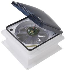 "Fan-Tastic Vent Roof Vent w/ 12V Fan and Remote - Powered Lift - 14-1/4"" x 14-1/4"""