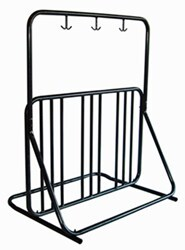 Gear Up Deluxe Park Bike Rack and Accessory Bar - 6 Bikes