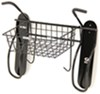 Gear Up Vertical Wall Mount Bike Storage Rack with Removable Basket - 2 Bikes