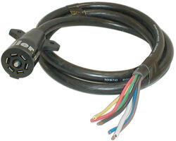 7-Way Molded Trailer Wire Connector, 8' Long