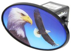 "Bald Eagle 2"" Trailer Hitch Receiver Cover - ABS Plastic"