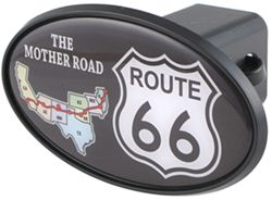 "Route 66 2"" Trailer Hitch Receiver Cover - ABS Plastic"