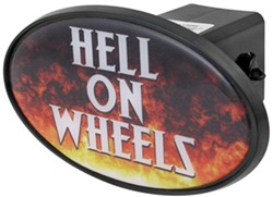 "Hell on Wheels 2"" Trailer Hitch Receiver Cover - ABS Plastic"