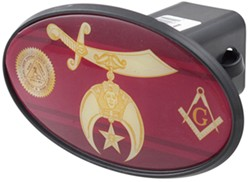"Shriners 2"" Trailer Hitch Receiver Cover - ABS Plastic"