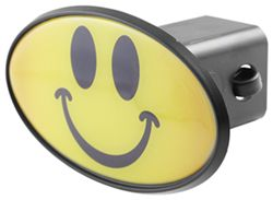 "Smiley Face 2"" Trailer Hitch Receiver Cover - ABS Plastic"