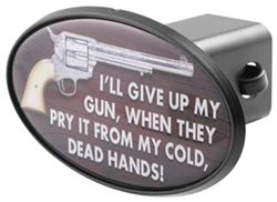 "From My Cold Dead Hands 2"" Trailer Hitch Receiver Cover - ABS Plastic"