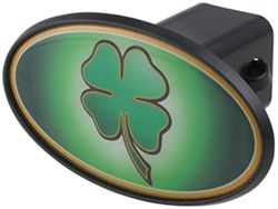 "Four-Leaf Clover 2"" Trailer Hitch Receiver Cover - ABS Plastic"