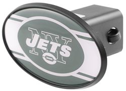 "New York Jets 2"" NFL Trailer Hitch Receiver Cover - ABS Plastic"