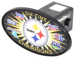 "Pittsburgh Steelers Six-Time Champions 2"" NFL Trailer Hitch Receiver Cover - ABS Plastic"