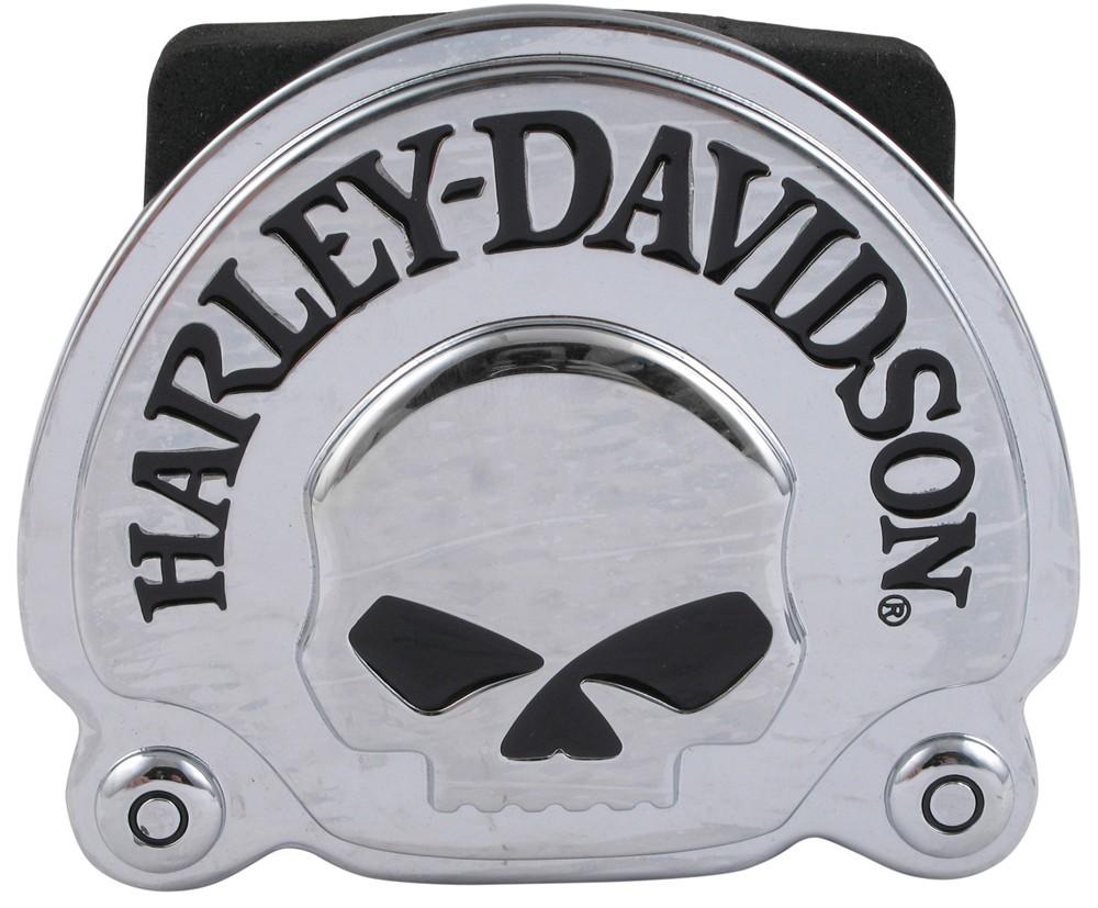 harley davidson skull 2 trailer hitch receiver cover. Black Bedroom Furniture Sets. Home Design Ideas