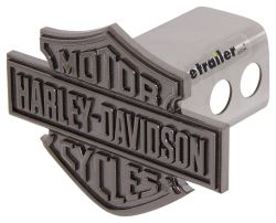 "Harley-Davidson Bar and Shield Hitch Cover - 2"" Hitches - Stainless Steel - Black Nickel"