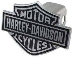 "Harley-Davidson Motorcycles Black Logo Trailer Hitch Cover for 2"" Trailer Hitches"