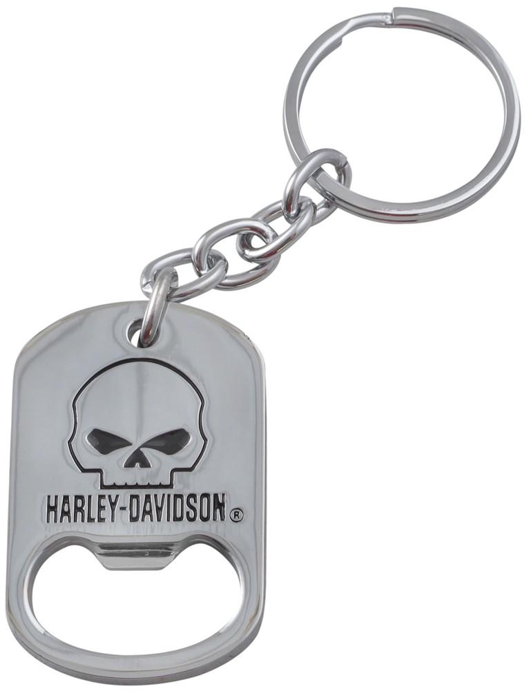 harley davidson scowling skull key chain and bottle opener. Black Bedroom Furniture Sets. Home Design Ideas